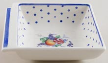 Spode Polka Dot colour Dish c1930s