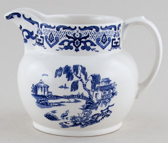 Royal Swan English Canton Jug or Pitcher
