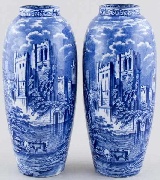 Tams Ye Olde Priory Vases pair of c1930s