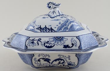 Till Kang He Covered Dish c1925