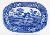 Spode Tower Meat Dish or Platter c1890s