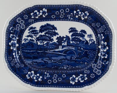 Spode Tower Meat Dish or Platter c1931