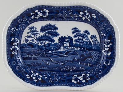 Spode Tower Meat Dish or Platter c1909