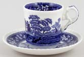 Spode Tower Coffee Cup and Saucer c2005
