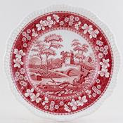 Spode Tower pink Plate c1980s