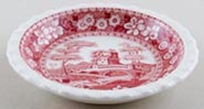 Spode Tower pink Dish very small c1970