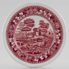 Spode Tower pink Plate c1930s