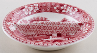 Spode Tower pink Preserve and Butter Dish c1930s