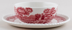 Spode Tower pink Bowl on Fixed Stand c1930s
