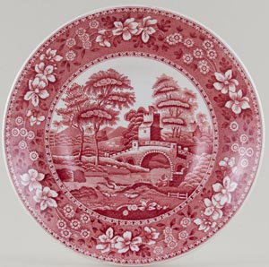 Spode Tower pink Saucer for Jumbo Cup c1970s