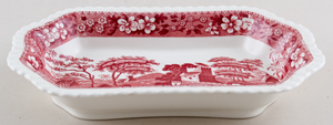 Spode Tower pink Dish c1950s