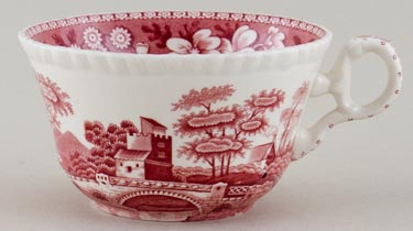 Spode Tower pink Breakfast Cup c1980