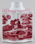 Spode Tower pink Cannister c1930s