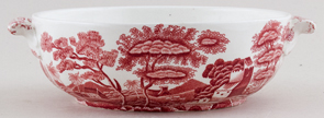 Spode Tower pink Vegetable Dish c1960s