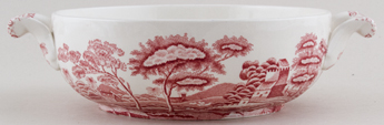 Spode Tower pink Vegetable Dish c1970s