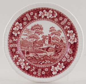 Spode Tower pink Plate c1987