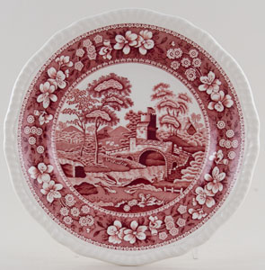 Spode Tower pink Plate c2004