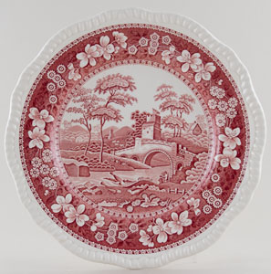 Spode Tower pink Plate c1970s