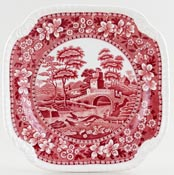 Spode Tower pink Plate Bread and Butter c1926