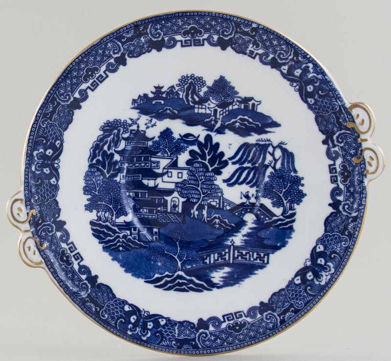 Unattributed Maker Two Temples Bread and Butter or Cake Plate c1914
