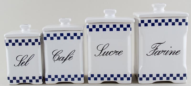 Unattributed Maker Unidentified Pattern Kitchen Canisters set of 4