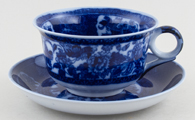 Unattributed Maker Unidentified Pattern Cup and Saucer Jumbo