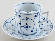 Kalk Denmark Moustache Cup and Saucer c1910