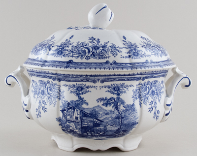 Unattributed Maker Unidentified Pattern Soup Tureen c1930s