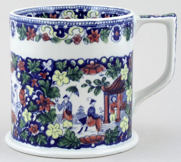 Wade Unidentified Pattern blue with colour Mug Taunton Cider Company c1989