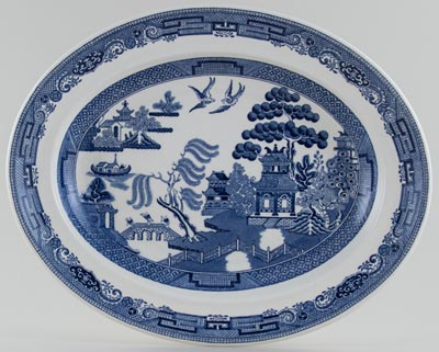 Wedgwood Willow Meat Dish or Platter c1960s