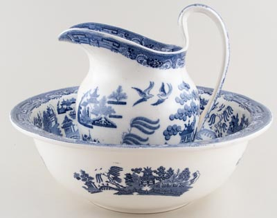 Wedgwood Willow Ewer and Bowl c1920