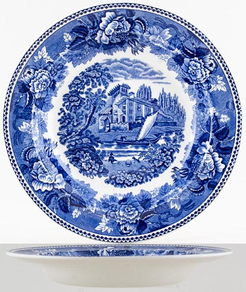 Wedgwood Landscape Soup or Pasta Plate c1960