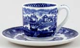 Wedgwood Landscape Coffee Cup and Saucer c1960