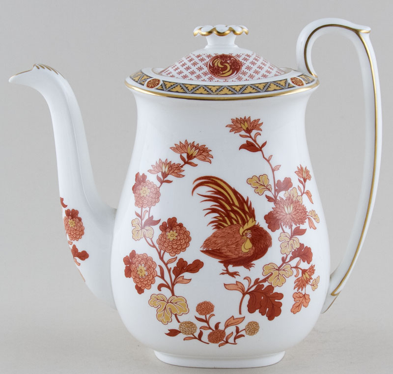 Wedgwood Golden Cockerel red Coffee Pot c1970s