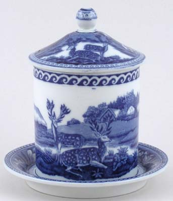 Wedgwood Fallow Deer Jam or Preserve Pot on Fixed Stand c1920