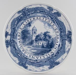Wedgwood American Commemorative Plate Williams College Lasell Gymnasium c1950