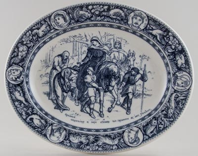 Wedgwood Ivanhoe grey Meat Dish or Platter c1880s