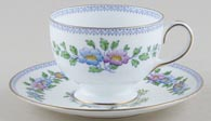 Wedgwood Plymouth colour Teacup and Saucer c1910