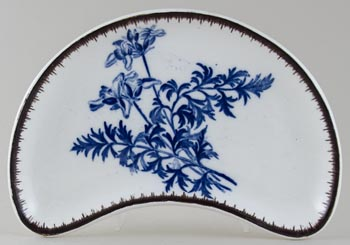 Wedgwood Botanical Crescent Side Dish c1879