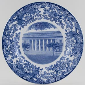 Wedgwood American Commemorative Plate Walker Memorial c1930