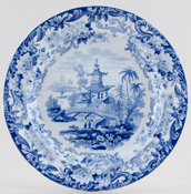 Wedgwood Chinese Temples Plate c1830