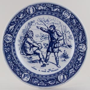 Wedgwood Ivanhoe Plate Wamba and Gurth c1900