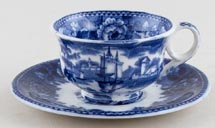 Wedgwood Landscape Toy Cup and Saucer c1910