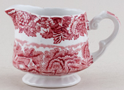 Woods English Scenery pink Jug or Creamer c1960s