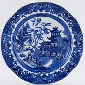 Burgess and Leigh Willow Plate c1930s and 1950s