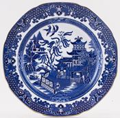 Burgess and Leigh Willow Plate c1930s