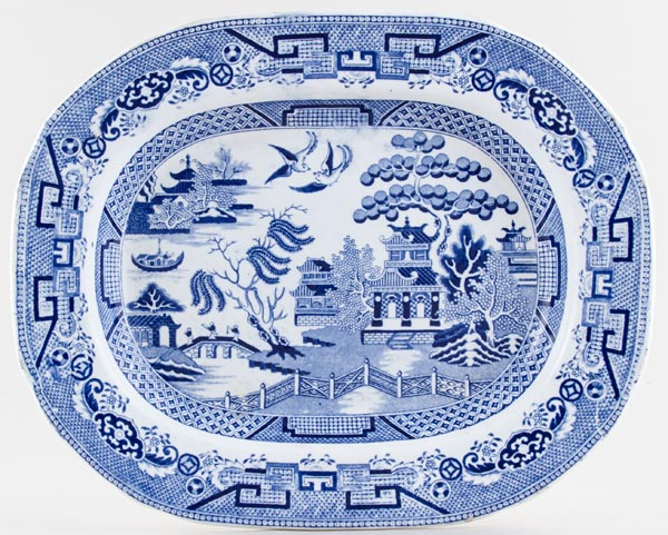 Unattributed Maker Willow Meat Dish or Platter c1860