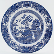 Side or Cheese Plate Maker English Ironstone Tableware ...  sc 1 st  Lovers of Blue and White & English Ironstone Tableware Willow China | Archive of Sold Items ...