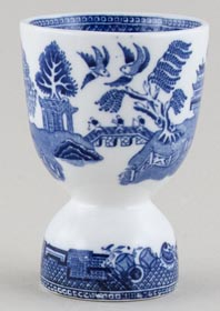 Unattributed Maker Willow Egg Cup Double c1930s