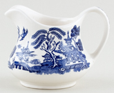 English Ironstone Tableware Willow Jug or Creamer c1990
